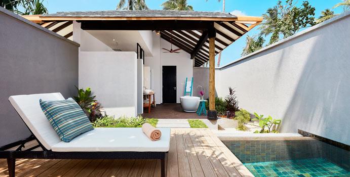 Pool, Beach Garden Pool Villa | Amari Havodda, Malediven