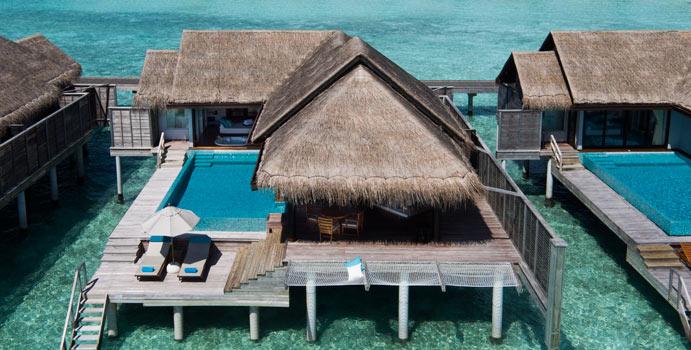 Sunset Wasser Pool Villa, Anantara Kihavah Villas, Malediven