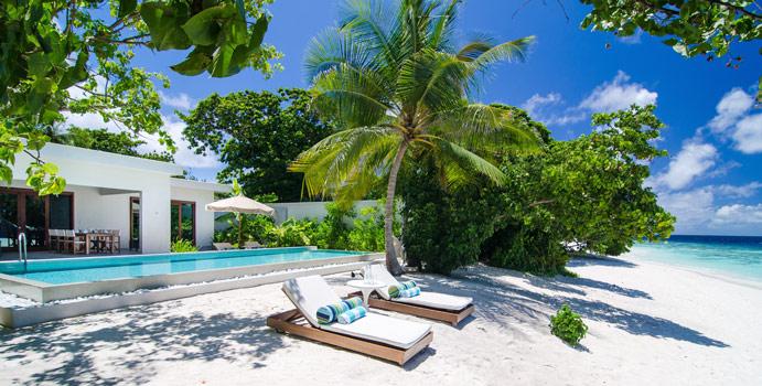 Beach House, Amilla Fushi, Malediven