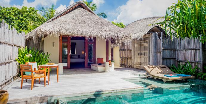 Anantara Pool Villa, Aussenansicht | Anantara Dhigu Maldives Resort