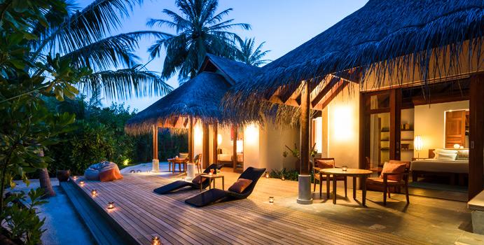 Family Villa, Aussenansicht | Anantara Dhigu Maldives Resort
