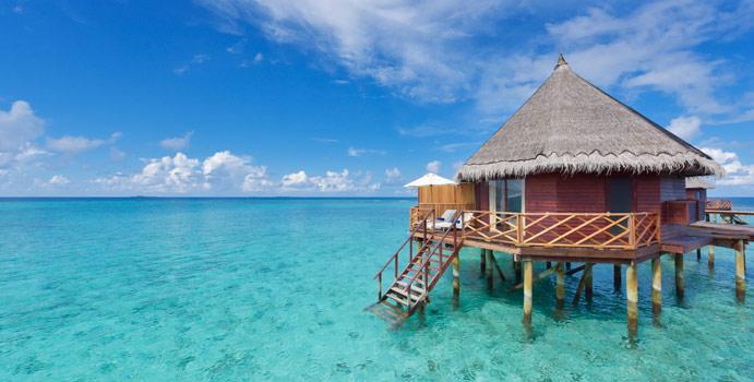 Aussenansicht, Water Bungalow, Angaga Island, Malediven