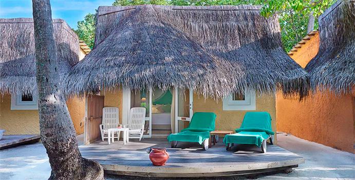 Bonthi Garden Bungalow, Aussenansicht, Kuredu Island Resort