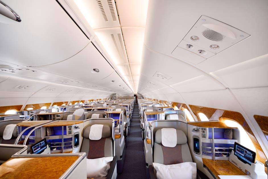 A380 Emirates Business Class