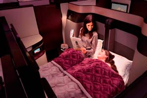 Qatar Business Class Doppelbett