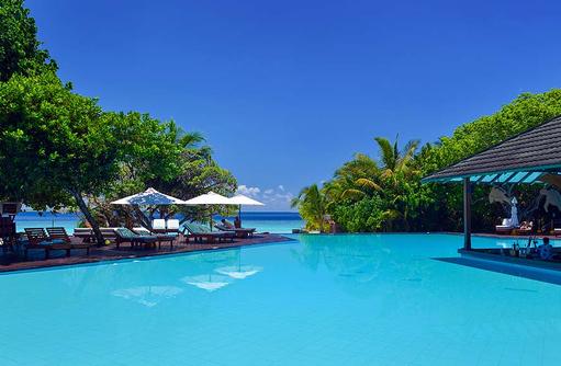 Gemeinschaftspool, Adaaran Prestige Meedhupparu Water Villas, Maldives
