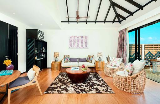 Wohnzimmer, Living Room, Water Pool Villa, Amari Havodda Maldives