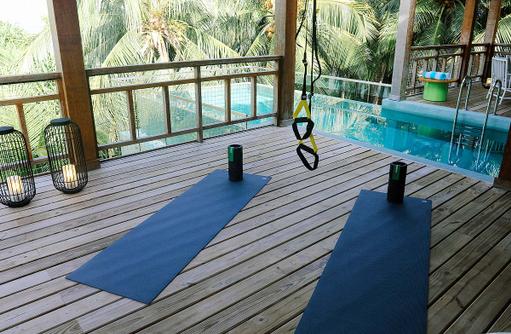 Fitness, Meditation im Tree House, Amilla Fushi, Malediven