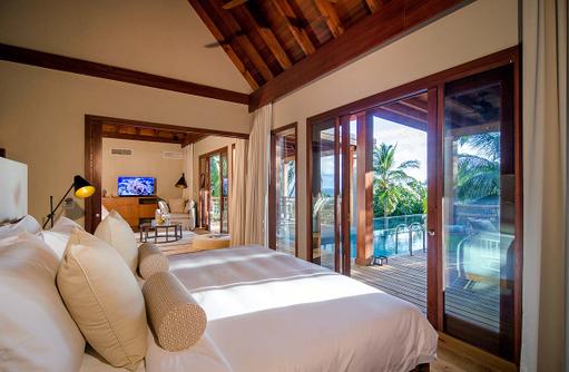 Schlafzimmer im Tree House, Amilla Fushi, Malediven