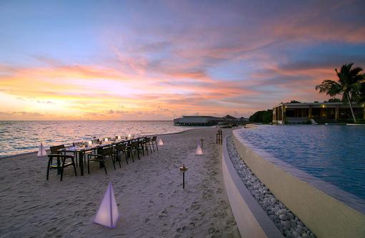 Beach Dinner, Amilla Fushi, Malediven