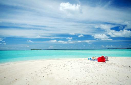 Picknick am Strand, Amilla Fushi, Malediven