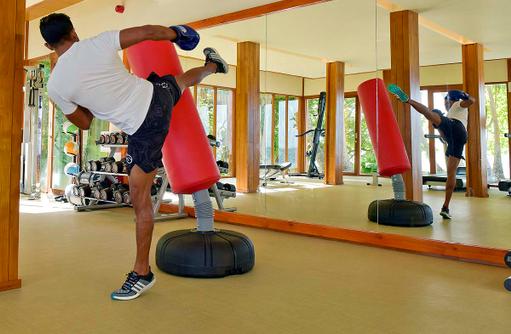 Fitness Center, Kickboxing, Amilla Fushi, Malediven