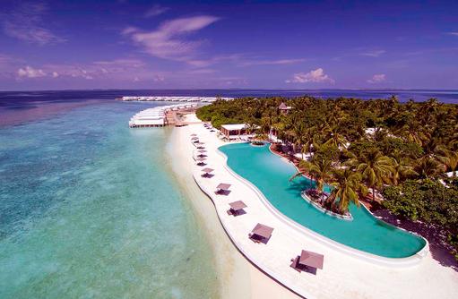 Luftaufnahme, Vogelperspektive, Drohne, Strand, Amilla Fushi, Malediven