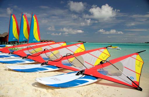 Windsurfen im Anantara Dhigu, Maledives