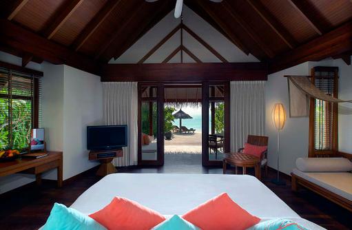 Schlafen in der Beach Villa, Anantara Dhigu, Maledives