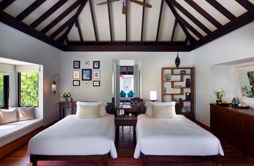 Family Beach Pool Villa, Twin Bedroom, Anantara Kihavah Villas, Maldives