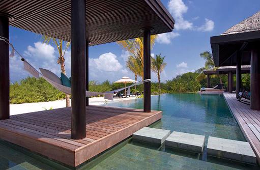 Two Bedroom Beach Pool Residence, Hängematte,Anantara Kihavah Villas, Maldives