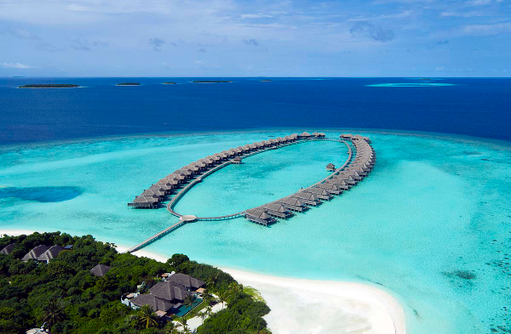 Overwater Villas im Traummeer, Anantara Kihavah Villas, Maldives