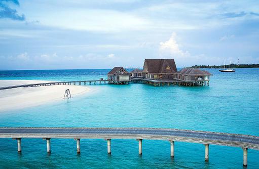 Blick auf den Spa, Anantara Kihavah Villa, Maldives