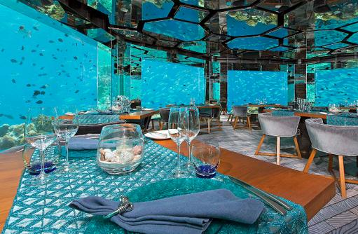 SEA Restaurant, Unterwasser Restaurant, Anantara Kihavah Villas, Maldives