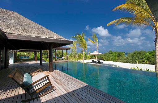 Three Bedroom Beach Pool Residence, Pool, Anantara Kihava Villas, Maldives