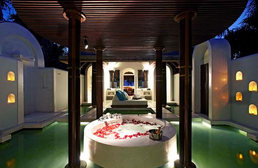 Sunset Beach Pool Villa, Badezimmer, Anantara Kihavah Villas, Maldives