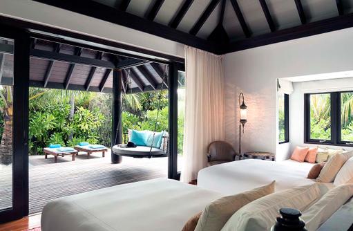 Family Pool Villa, zweites Schlafzimmer, Terrasse, Anantara Kihavah Villas, Maldives