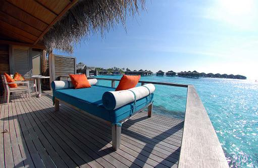 Over Water Bungalow, Sonnenterrasse, Anantara Veli Maldives Resort
