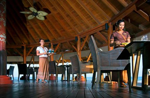 Baan Huraa Restaurant, Dining, Innenbereich, Anantara Veli Maldives Resort