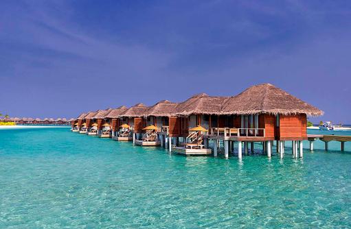 Deluxe Over Water Bungalows, Frontansicht, Anantara Veli Maldives Resort
