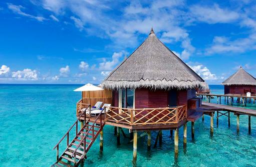 Water Bungalow, Frontansicht, Angaga Island Resort & Spa, Maldives