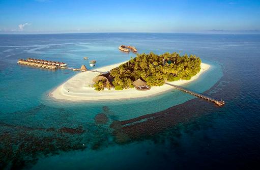 Vogelperspektive, Angaga Island Resort & Spa, Maldives