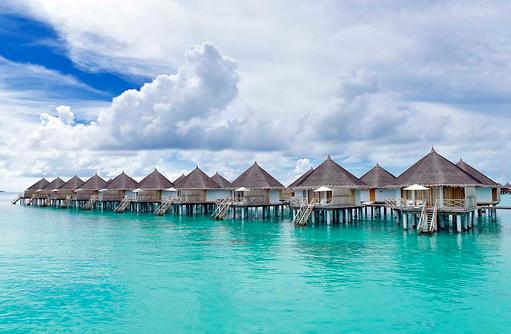 Superior Water Bungalows, Frontansicht, Angaga Island Resort & Spa, Maldives