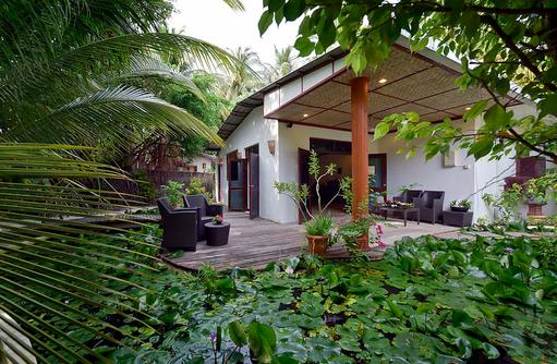 Duny Thai Spa, Garten, Wartebereich, Angaga Island Resort & Spa, Maldives