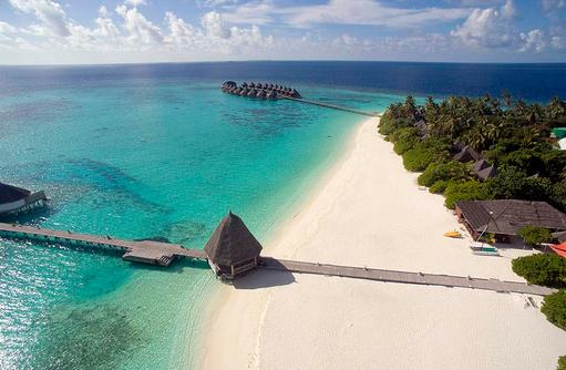 Blick auf den Strand, Angaga Island Resort & Spa, Maldives