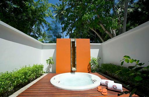 Beach Pool Villa, Whirlpool, Außenbereich, Angsana Ihuru, Malediven
