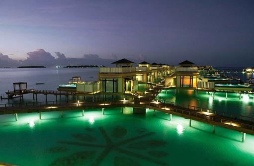 InOcean Vilen bei Nacht, Angsana Velavaru, Malediven