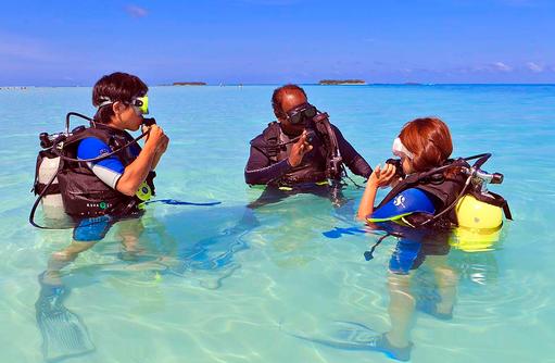 Tauchstunde, Angsana Velavaru, Malediven