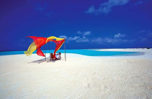 Beachdinner, Angsana Velavaru, Malediven