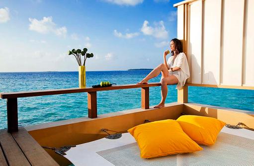 Relaxen in einer InOcean Villa, Angsana Velavaru, Malediven