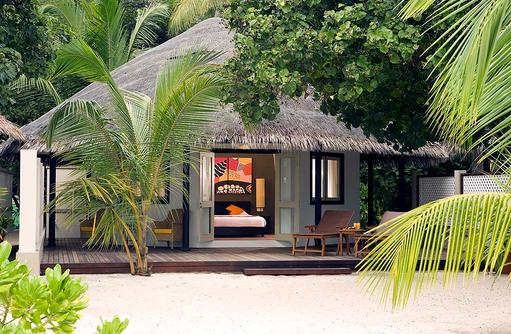Aussenansicht Beachfront Villa, Angsana Velavaru, Malediven