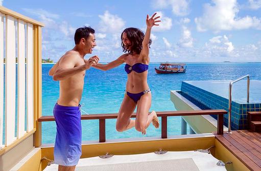 Ausgelassen den Urlaub genießen, Angsana Velavaru, Malediven