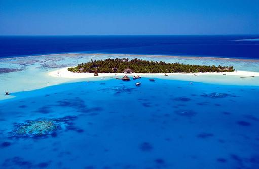 Luftaufnahme, Angsana Velavaru, Malediven