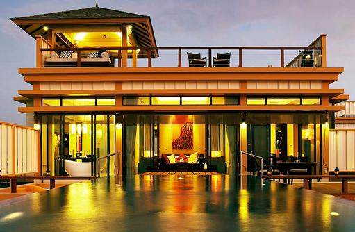 Aussenansicht InOcean Villa, Angsana Velavaru, Malediven