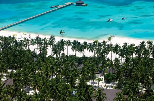 Tropische Insel mit weißem Strand, Atmosphere Kanifushi Maldives