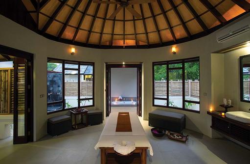 Theraphieraum im Spabereich, Atmosphere Kanifushi Maldives