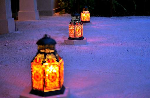 Ottoman Lounge, TeelichtgläderAyada Maldives