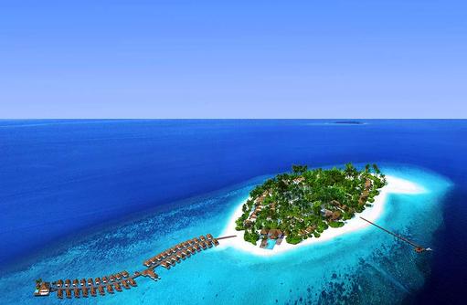 Luftaufnahme Baglioni Resort Maldives