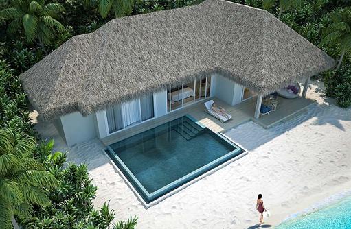 Beach Villa mit Pool, Baglioni Resort Maldives