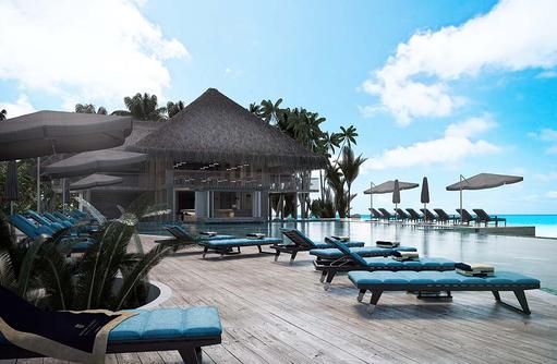 Liegen am Mainpool, Baglioni Resort Maldives